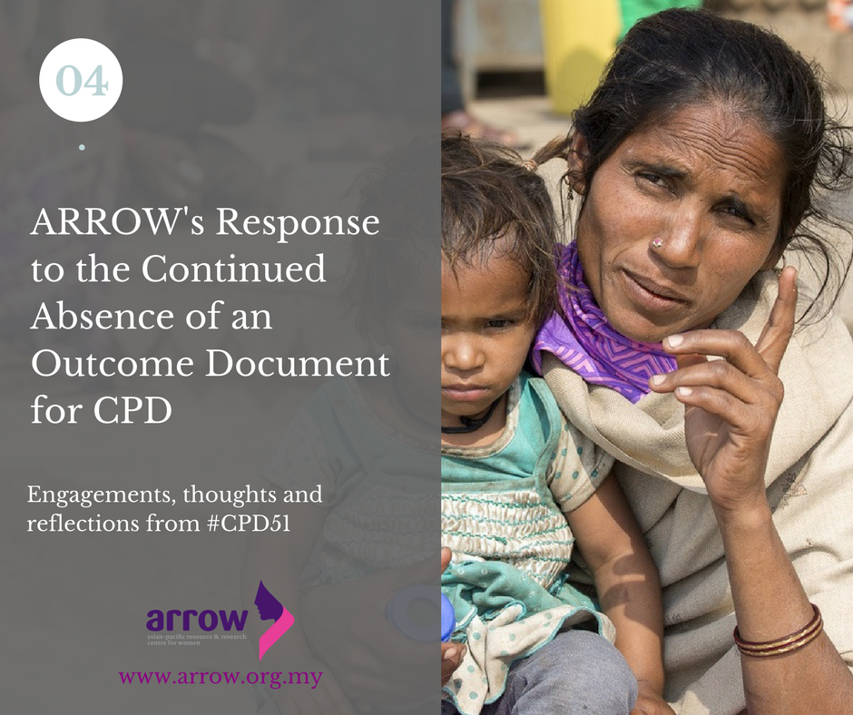 Arrows Response To The Continued Absence Of An Outcome Document For Cpd