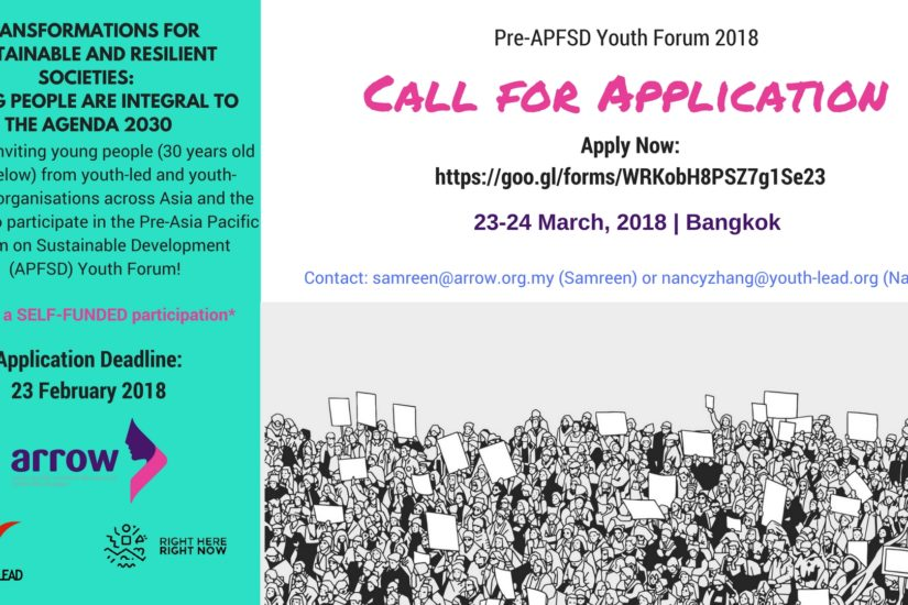 Pre-APFSD Youth Forum 2018 Call to Action Final