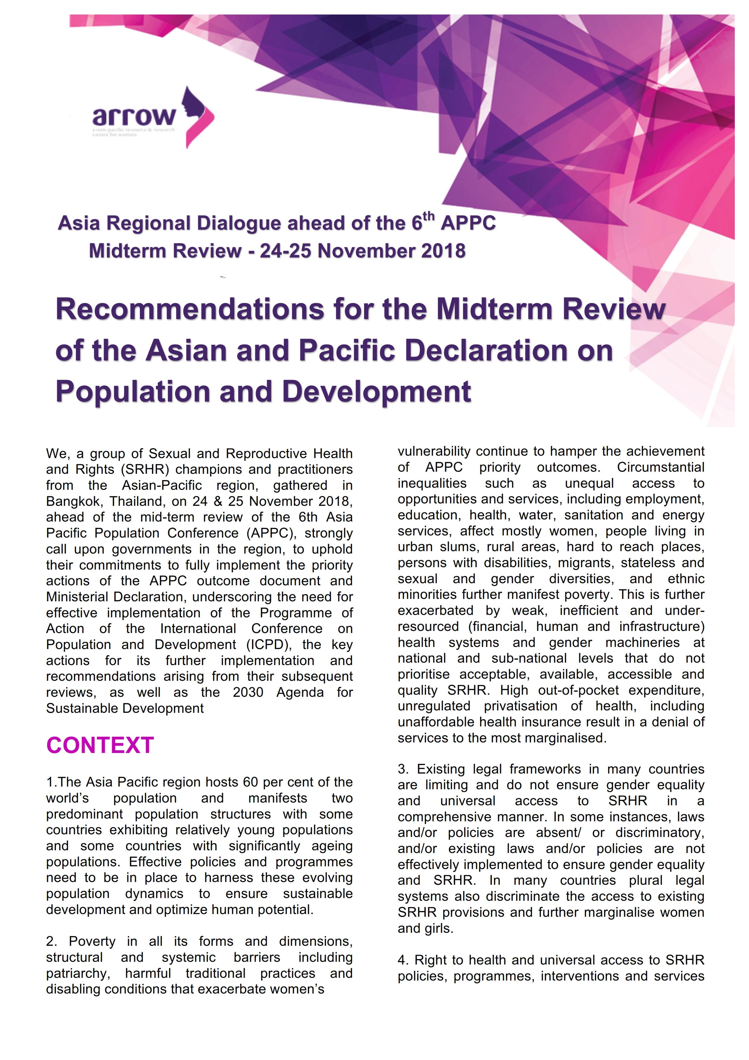 Asia Regional Dialogue_MTR APPC Recommendations_Nov 2018_001