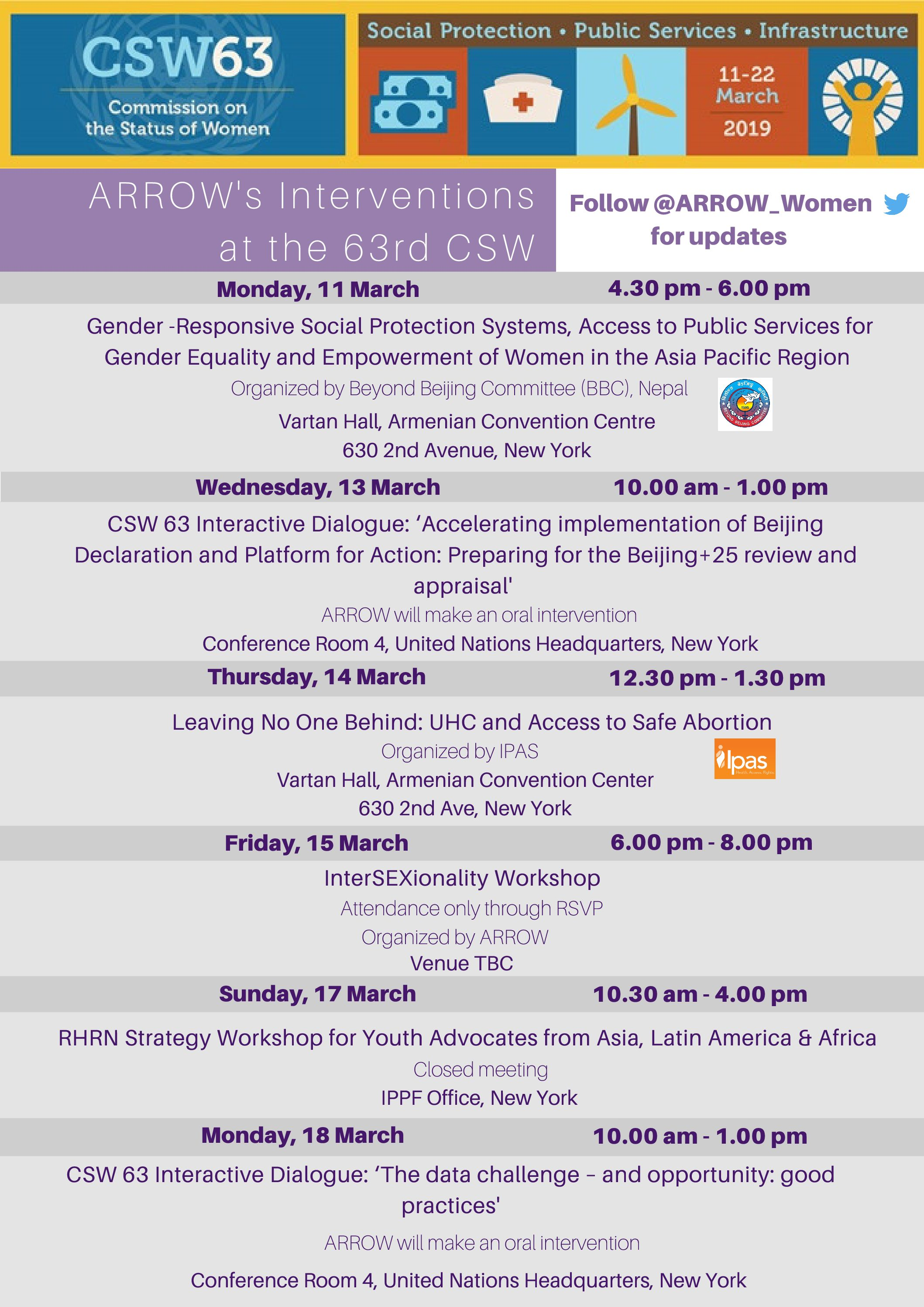 CSW63 Side Event Flyers (4)