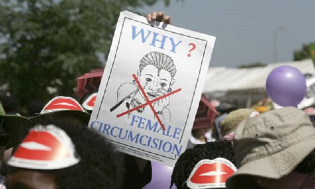 MDG : FGM : demonstration against female genital mutilation